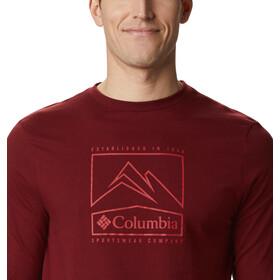 Columbia Cades Cove T-shirt met print Heren, red jasper jagged peak